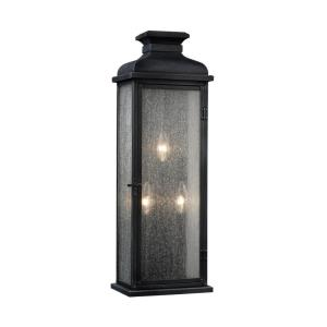 Sean Lavin-Three Light Outdoor Wall Sconce in Transitional Style-8 Inches Wide by 23.88 Inches Tall