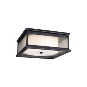 Pediment - Two Light Outdoor Flush Mount