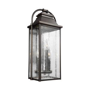 Wellsworth 18.25 Inch Outdoor Wall Lantern Transitional Cast Aluminum Approved for Wet Locations