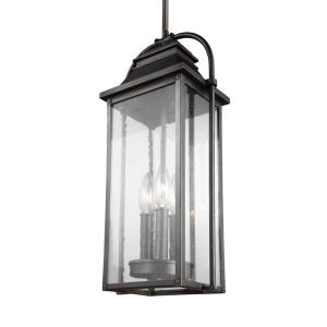 Sean Lavin-Three Light Outdoor Hanging Lantern in Transitional Style-8.5 Inches Wide by 18.75 Inches Tall
