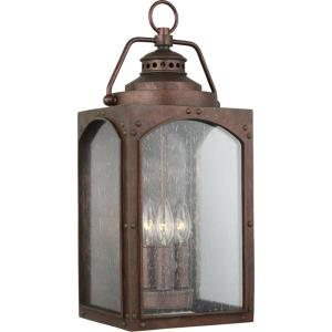 Randhurst - Outdoor Wall Lantern StoneStrong Approved for Wet Locations in Period Inspired Style - 8.88 Inches Wide by 20.13 Inches High