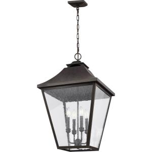 Sean Lavin-Four Light Outdoor Hanging Lantern in Traditional Style-17.5 Inches Wide by 29.25 Inches Tall