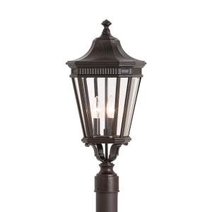 Cotswold Lane - Three Light Outdoor Post Mount in Traditional Style - 9.5 Inches Wide by 22.5 Inches High
