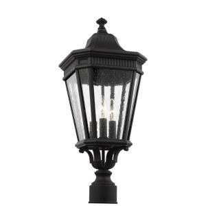 Cotswold Lane - Three Light Outdoor Post Lantern in Traditional Style - 9.5 Inches Wide by 22.38 Inches High