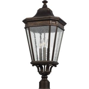 Cotswold Lane - 27.5 Inch Three Light Outdoor Post Lantern