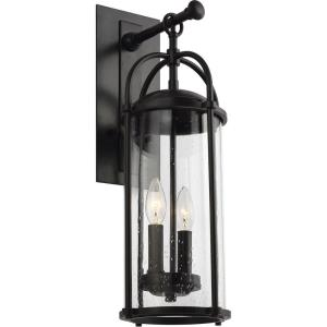 Dakota - Outdoor Wall Lantern Steel Approved for Wet Locations in Transitional Style - 7.63 Inches Wide by 20.63 Inches High