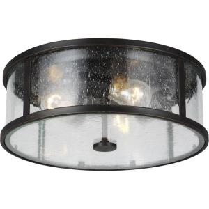 Dakota - Three Light Flush Mount in Transitional Style - 14 Inches Wide by 4.88 Inches High