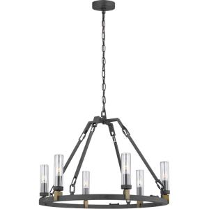 Landen - Six Light Outdoor Chandelier