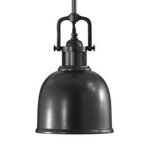 Parker Place Pendant 1 Light Dark Bronze Spun Steel