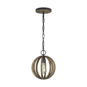 Allier - Pendant 1 Light in Transitional Style - 10 Inches Wide by 12.5 Inches High