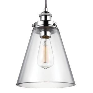 Baskin - Pendant 1 Light in Modern Style - 8.5 Inches Wide by 11.63 Inches High