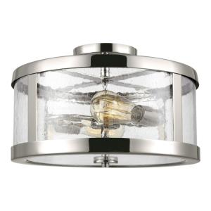 Harrow - Two Light Semi Flush Mount in Modern Style - 15 Inches Wide by 10.13 Inches High