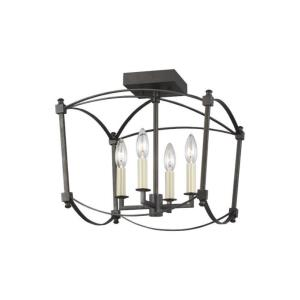 Thayer - 4 Light Semi-Flush Mount in Period Inspired Style - 14.38 Inches Wide by 13.88 Inches High
