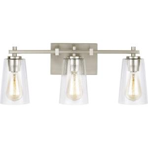 Mercer 3 Light Bath Vanity Approved for Damp Locations