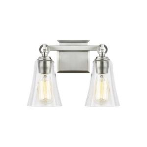Monterro - 2 Light Transitional Bath Vanity Approved for Damp Locations in Transitional Style - 13.5 Inches Wide by 9.5 Inches High