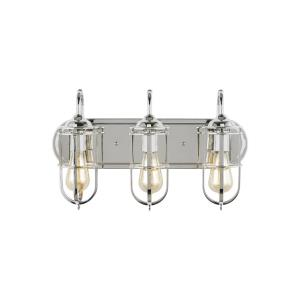 Urban Renewal 3 Light Bath Vanity Approved for Damp Locations