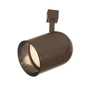 One Light Roundback Cylinder Track Head with Baffle