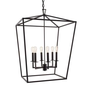 Cage - Six Light Large Pendant