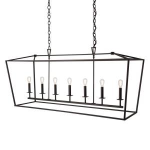 Cage - Seven Light Linear Pendant