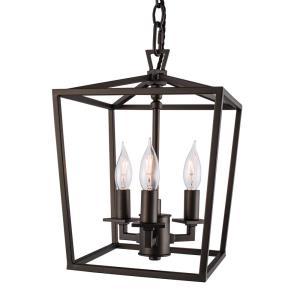 Mini Cage - Three Light Small Pendant
