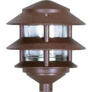 One Light Outdoor 2 Louver Pagoda Light with Small Hood
