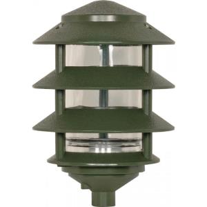 One Light Outdoor 3-Tier Path Light with Small Hood
