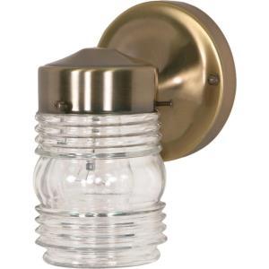 One Light Mason Jar Outdoor Porch Wall Lantern