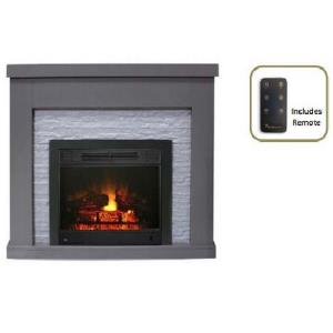 "Highland - 42"" Electric Fireplace with 23"" Electric Fireplace Insert"