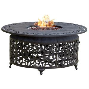 "48"" Round Outdoor Propane Firepit Table"
