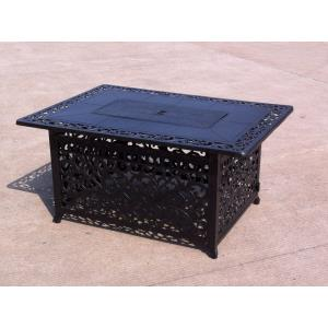 "35"" Rectangular Outdoor Propane Fire Pit Table"