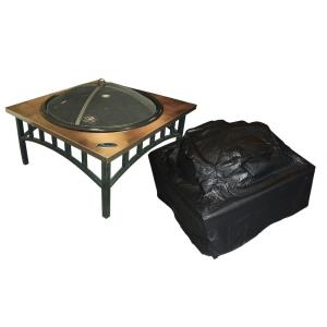 "38"" Outdoor Square Firepit Cover"