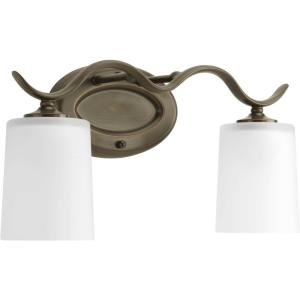 Inspire - 2 Light in Transitional and Traditional style - 15 Inches wide by 8.5 Inches high