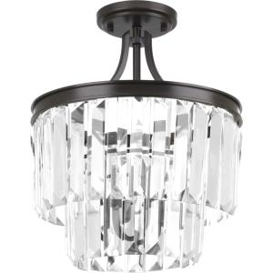 Glimmer - 15.5 Inch Height - Close-to-Ceiling Light - 3 Light - Drop Shade - Line Voltage