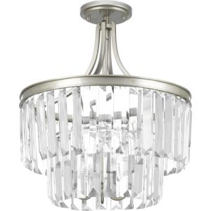 Glimmer - 19 Inch Three Light Convertible Semi-Flush Mount