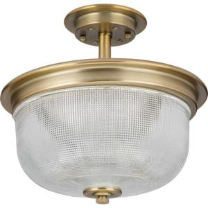 Archie - Close-to-Ceiling Light - 2 Light - Bowl Shade in Coastal style - 12.38 Inches wide by 11.38 Inches high