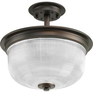 Archie - 11.375 Inch Height - Close-to-Ceiling Light - 2 Light - Bowl Shade - Line Voltage