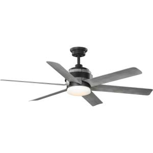Kaysville - 56 Inch 6 Blade Ceiling Fan with Light Kit