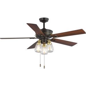 Teasley - 56 Inch Wide - Ceiling Fan - 3 Light