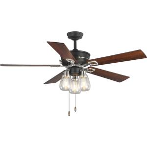 Teasley - Wide - Ceiling Fan - 3 Light in Farmhouse style - 56 Inches wide by 22.5 Inches high