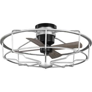 Loring - Wide - Ceiling Fan - Handheld Remote in Urban Industrial style - 32.88 Inches wide by 15.25 Inches high