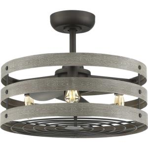 Gulliver - 23.5 Inch Wide - Ceiling Fan - 3 Light - Handheld Remote - Damp Rated