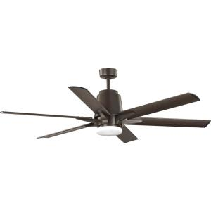 Arlo - Wide - Ceiling Fan - 1 Light - Handheld Remote - Damp Rated in Urban Industrial style - 60 Inches wide by 18.57 Inches high
