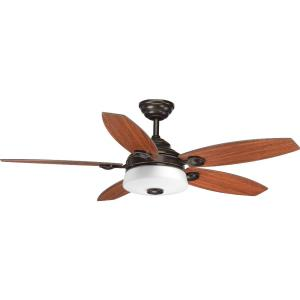 Graceful - Wide - Ceiling Fan - 1 Light - Handheld Remote in Bohemian and Transitional style - 54 Inches wide by 16.94 Inches high