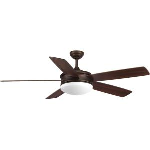 Fresno - Wide - Ceiling Fan - 1 Light - Handheld Remote in Modern style - 60 Inches wide by 17.25 Inches high