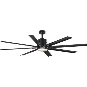 Vast - Wide - Ceiling Fan - 1 Light - Handheld Remote - Damp Rated in Modern style - 72 Inches wide by 16.75 Inches high