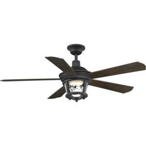 Smyrna - 52 Inch Wide - Ceiling Fan - 1 Light - Wall Control - Wet Rated