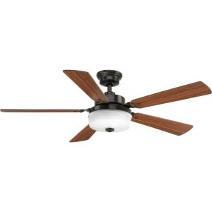 Tempt - Wide - Ceiling Fan - 1 Light - Handheld Remote in Transitional style - 52 Inches wide by 14.75 Inches high