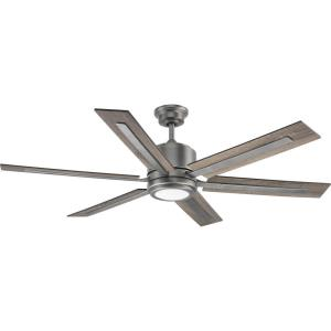 Glandon - Wide - Ceiling Fan - 1 Light - Handheld Remote in Transitional style - 60 Inches wide by 17.13 Inches high