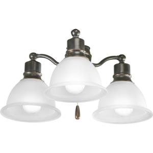 Madison Light Kit - Wide - 3 Light in Transitional style - 18 Inches wide by 7.5 Inches high