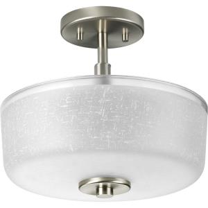 Alexa - Close-to-Ceiling Light - 2 Light - Bowl Shade in Modern style - 12.25 Inches wide by 10.88 Inches high